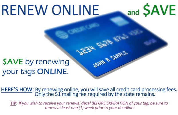 Renew Tags Online