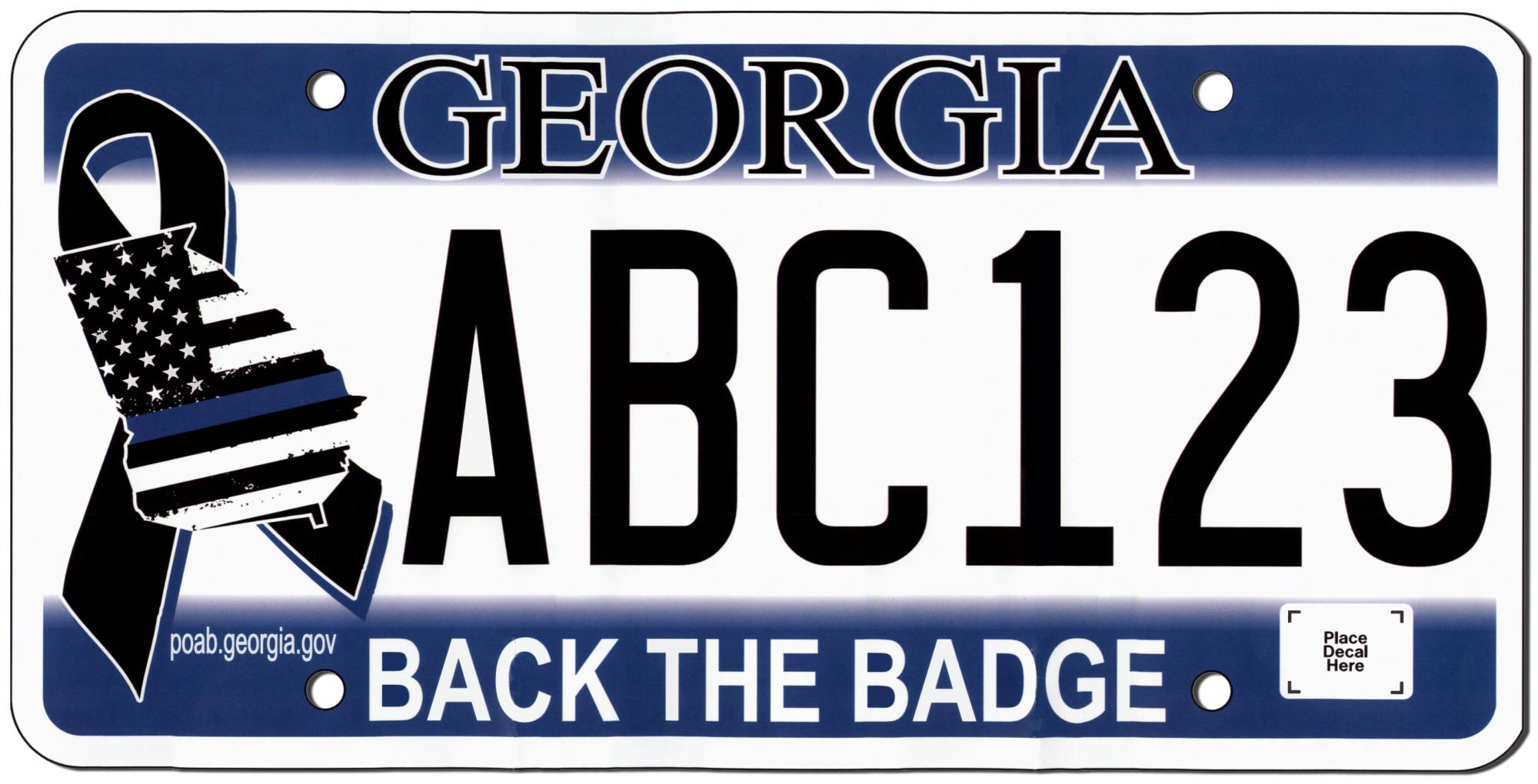 back the badge license plate now available at your tag office