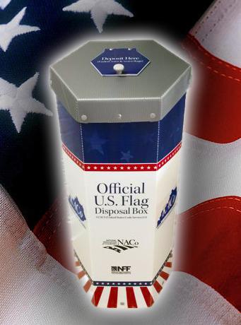flag disposal box