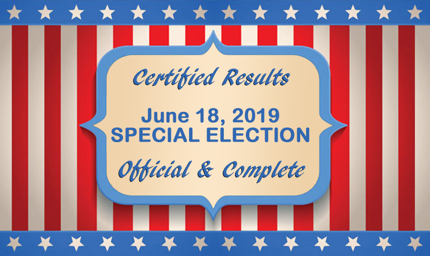 SPECIAL ELECTION - FINAL RESULTS