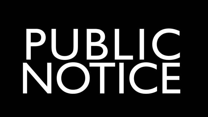 PUBLIC NOTICE - DDS RECORD UPLOAD - UPDATE